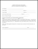 thumbnail of Special Permit Release Form