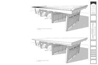 thumbnail of renderings of two design options